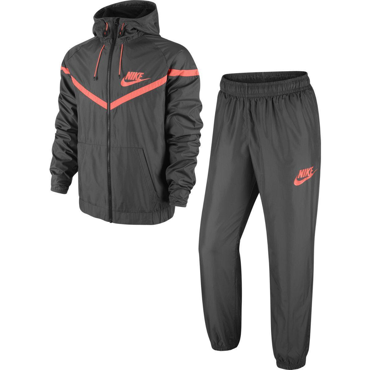 nike mens fearless woven tracksuit  medium ash