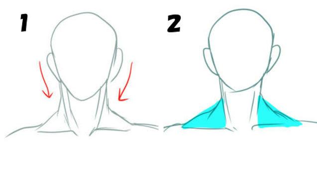 首を後回しにする描き方