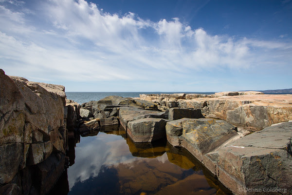 reflections and shapes, Schoodic Peninsula, Acadia National Park