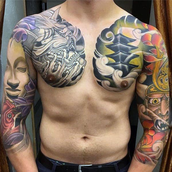 60 Japanese Half Sleeve Tattoos For Men Manly Design Ideas