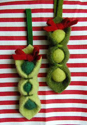 pea pod ornaments