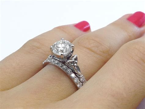 Engagement Ring  Celtic Knot Diamond Engagement Ring with