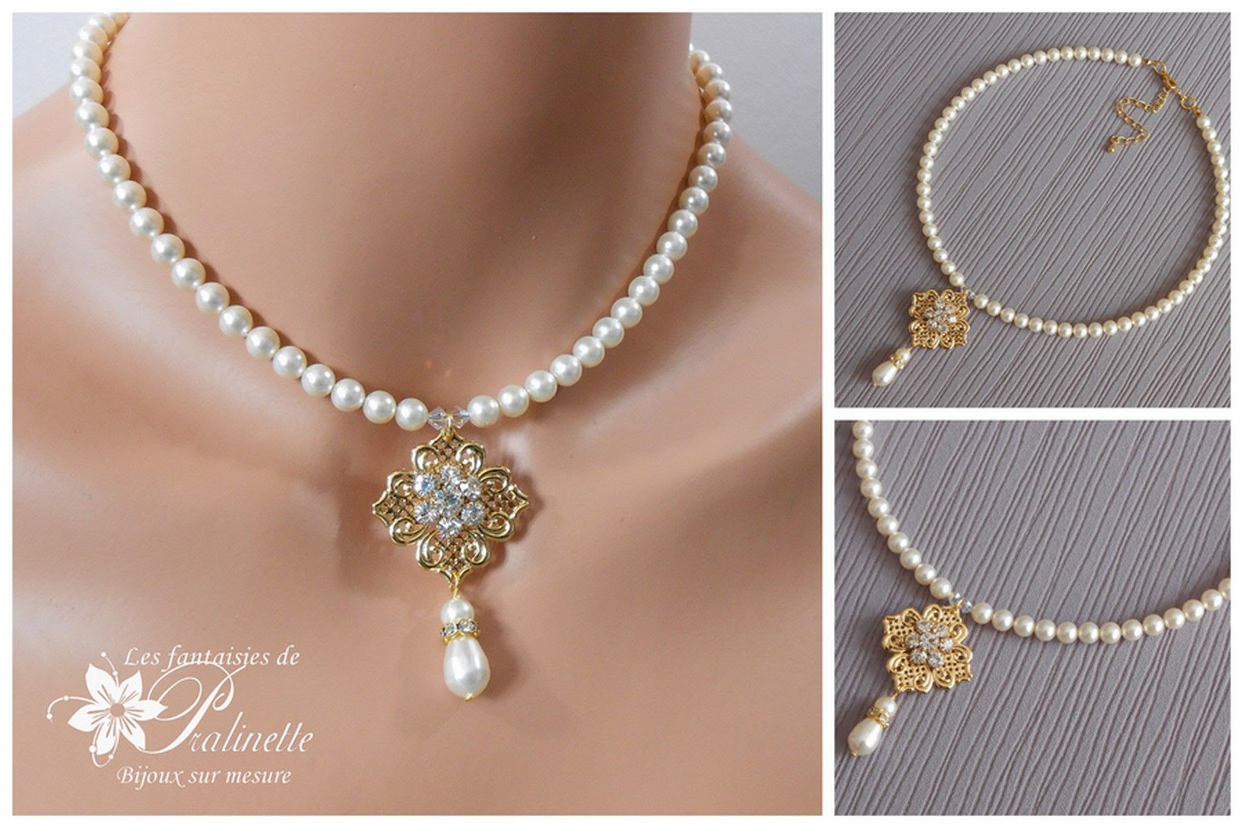 collier perle mariage