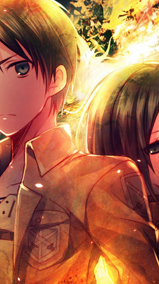 Mikasa And Eren Background Wallpapers 24544 Baltana
