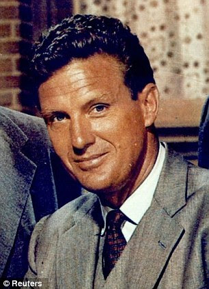 Paramours? Ms Taylor is rumoured to have had a threesome with actor Robert Stack, left, and President John F Kennedy, right