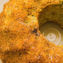 Lime and poppyseed syrup cake