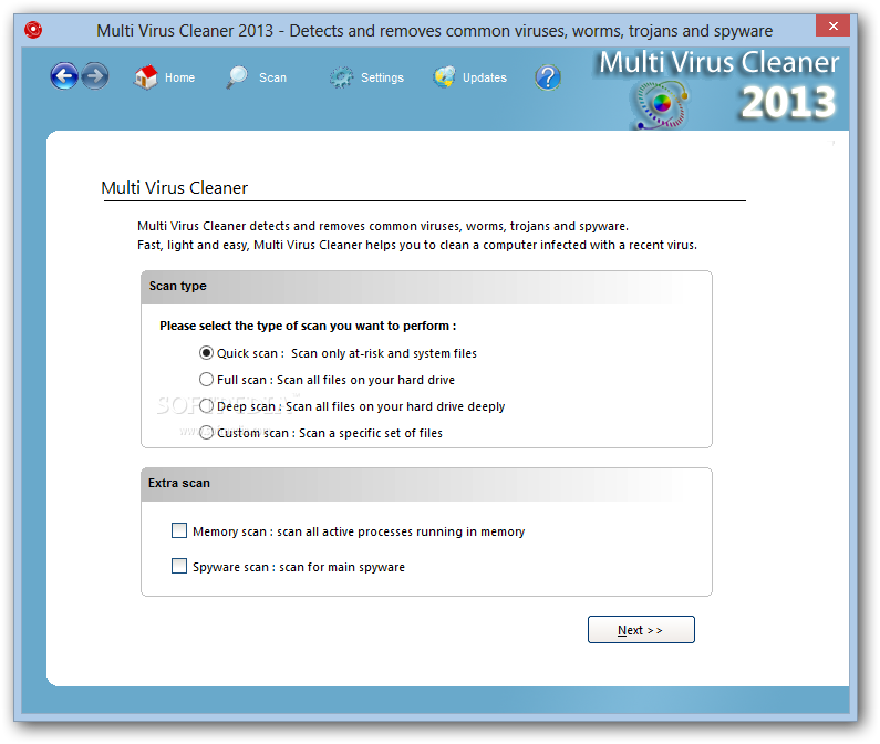 I MIGLIORI SOFTWARE ANTIVIRUS GRATIS : MULTI VIRUS CLEANER