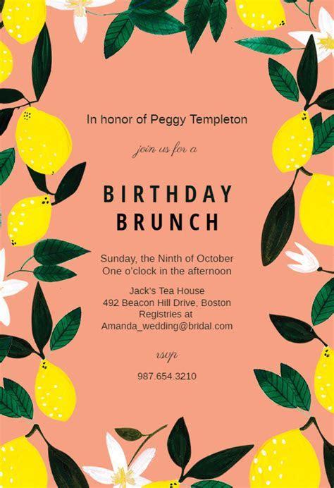 Lemons   Birthday Invitation Template (free)   Greetings