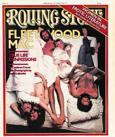 I Fleetwood Mac sul Rolling Stone nel 1977.