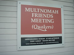 Multnomah Meeting Sign