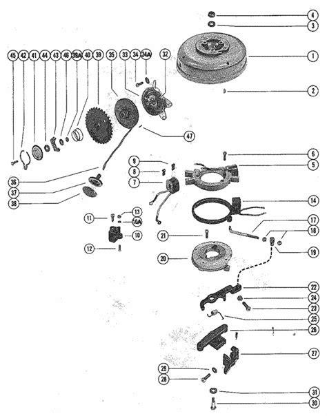 Mercury Marine Model 40, 4 HP (Gnat 2 Cylinder) Flywheel