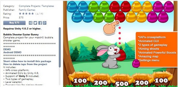 Asset Store - Bubble Shooter Easter Bunny