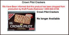 Crown Pilot Crackers - The Chowder Cracker Discontinued by Nabisco