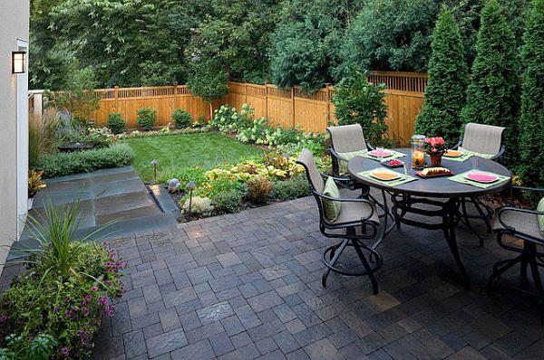 Landscaping ideas for open backyard