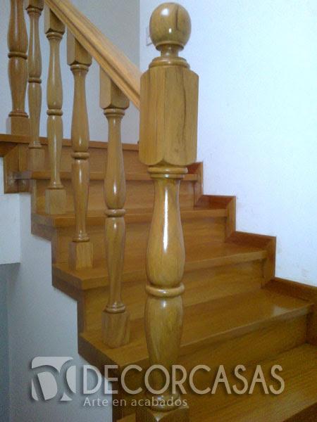 Dormitorio muebles modernos pasamanos de madera para escalera - Pasamanos de madera modernos ...