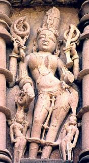 Frieze on the temple at Khajur