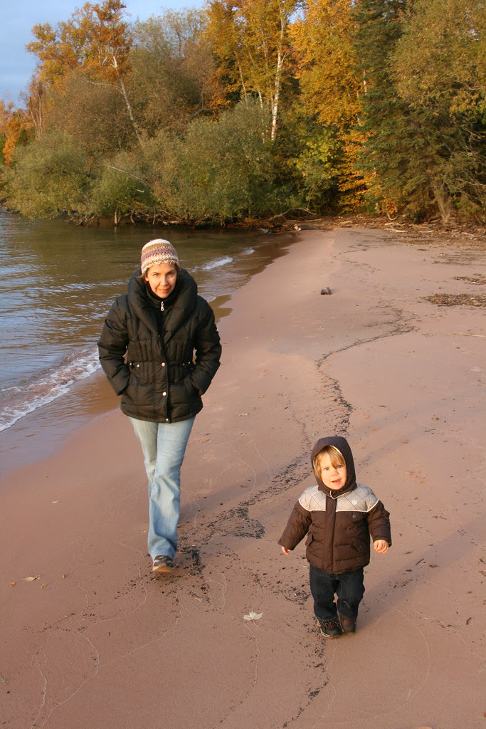 oliver and mom in bayfield