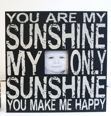 Painted Zebra You Are My Sunshine Picture Frame