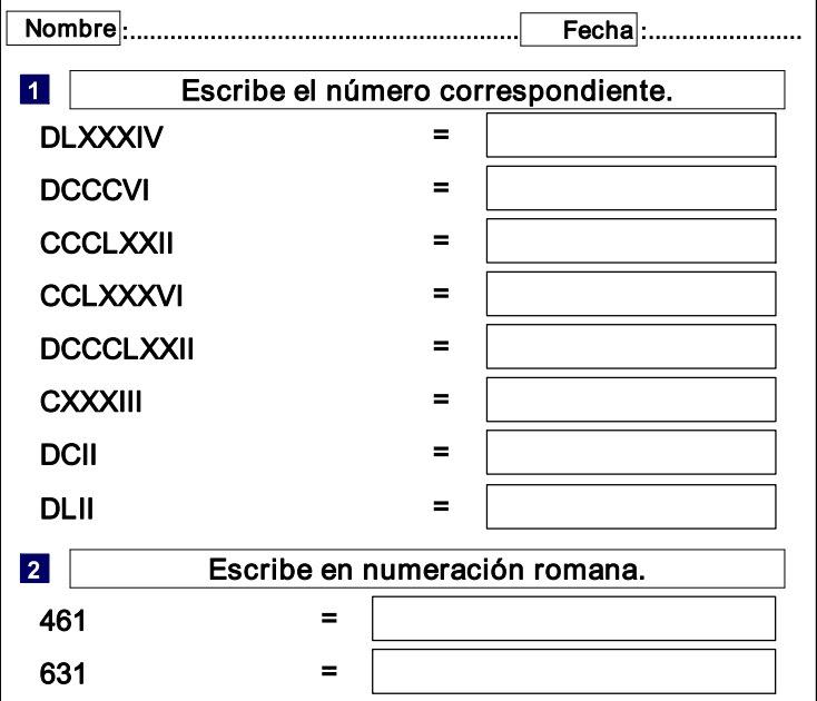 Los Números Romanos Recurso Educativo 38044 Tiching
