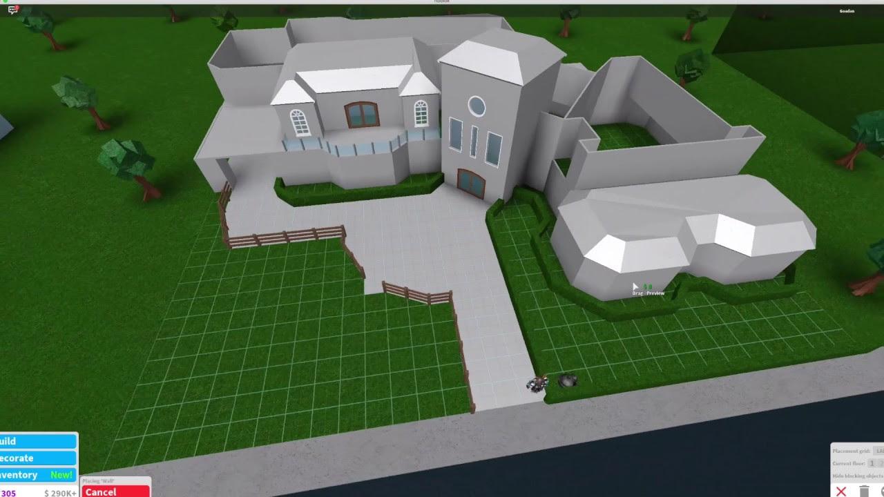 Mansion Roblox Bloxburg 1 Story House