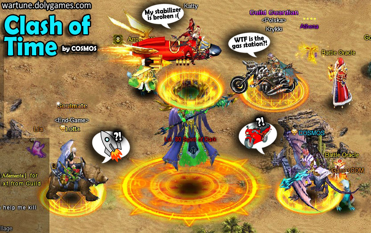 Clash of Time funny Cosmos Wartune
