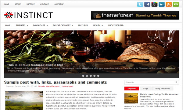 Instinct Blogger Template 25+ Best Free Magazine Blogger Templates for 2013 Download