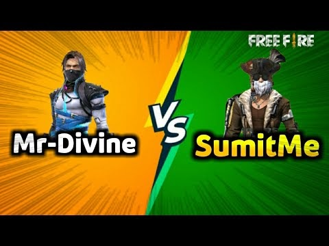 Mr-Divine VS SumitMe1825U 1vs1 Class Squad Free fire|| Best 1vs1 Fight in Free Fire.