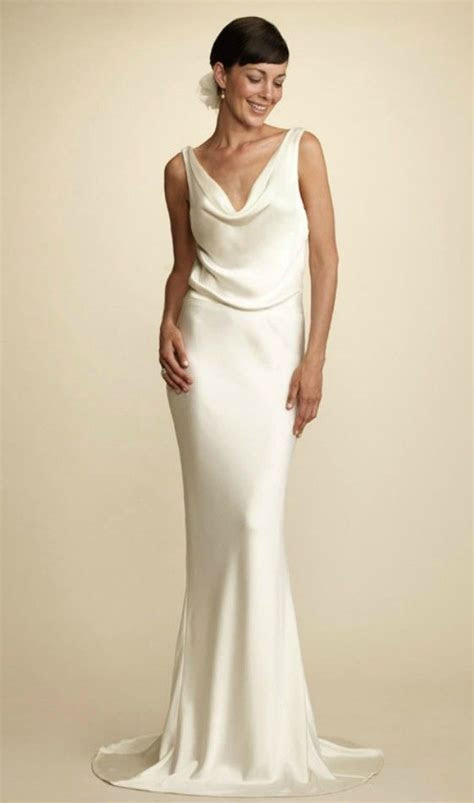 Simple Elegant Wedding Dress for Older Brides Over 40, 50