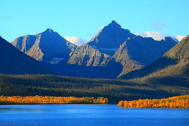 IMG_7683 St. Mary Lake with Norris and Split Mountains, Autumn, Glacier National Park
