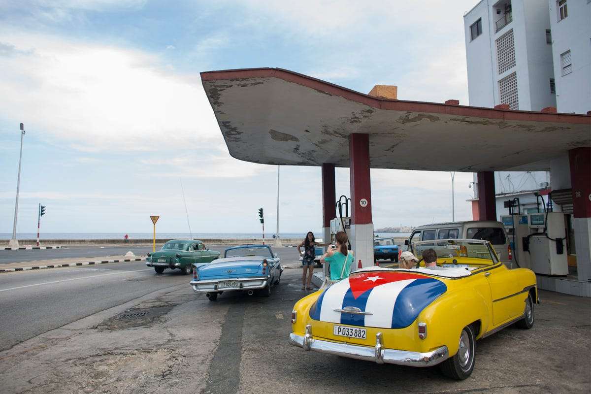 Cubans are known for their love of vintage cars.