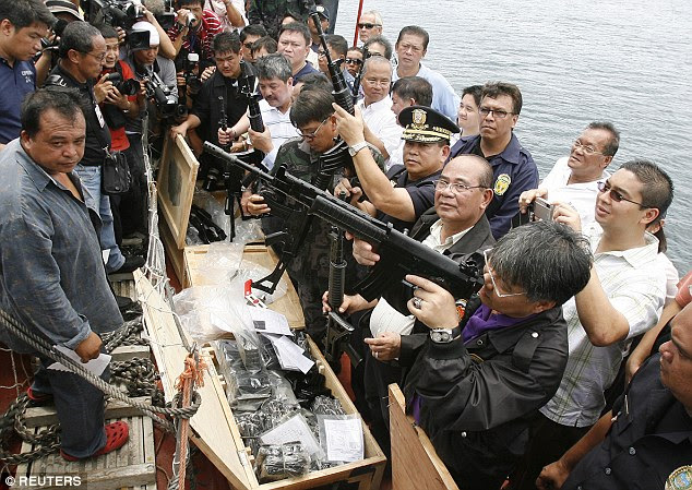 Firearms:Customs and Coast Guard officials seized the guns while on board the Captain Ufuk at the Port of Mariveles in thePhilippines