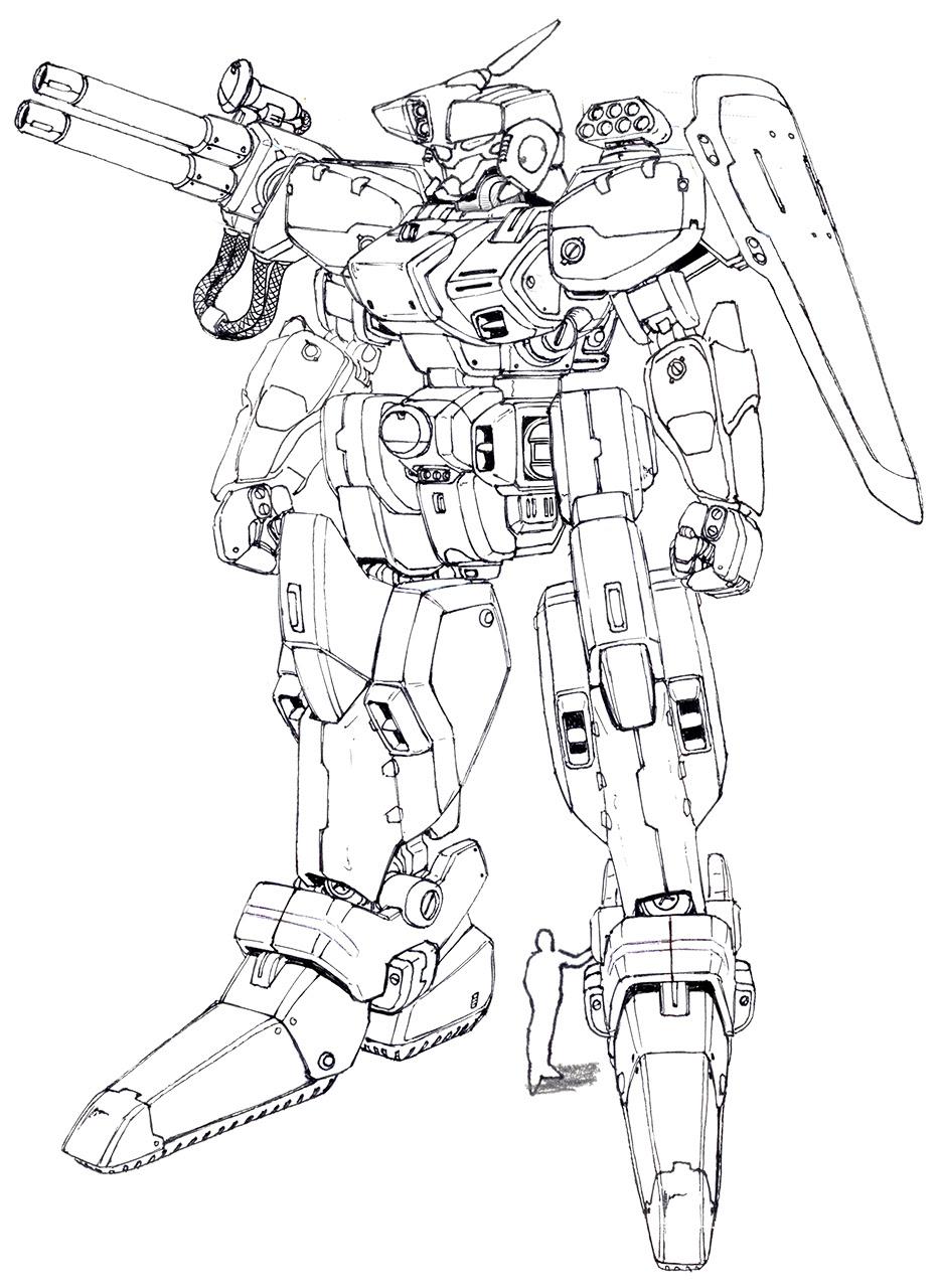オリジナルロボットのイラスト 飛行船世界 ブログ