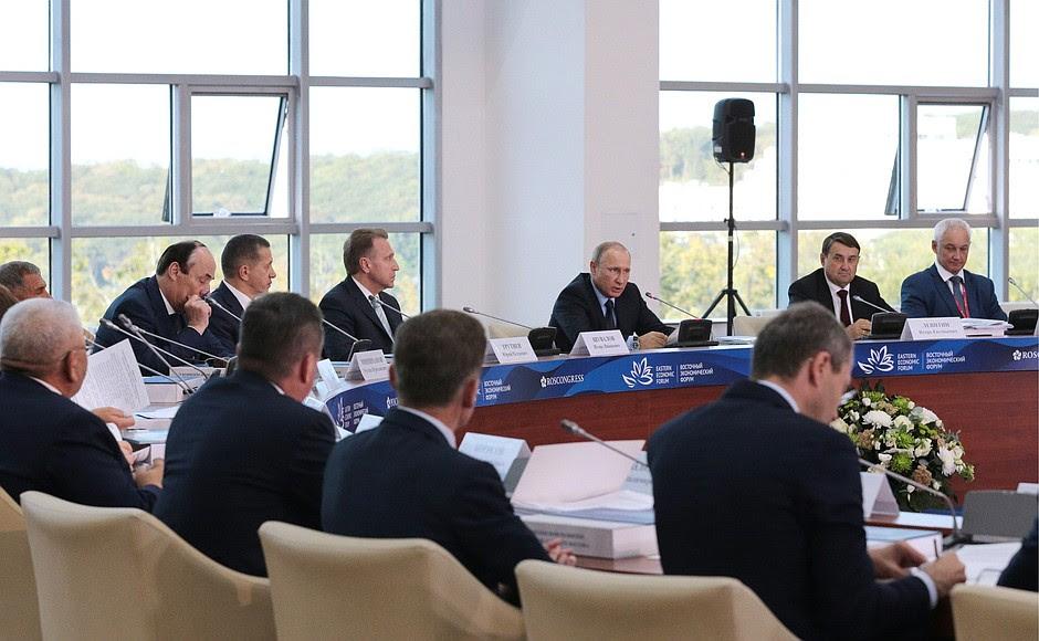 State Council Presidium meeting onthecomprehensive development oftheRussian Far East.