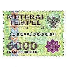 bea meterai wikipedia bahasa indonesia ensiklopedia bebas