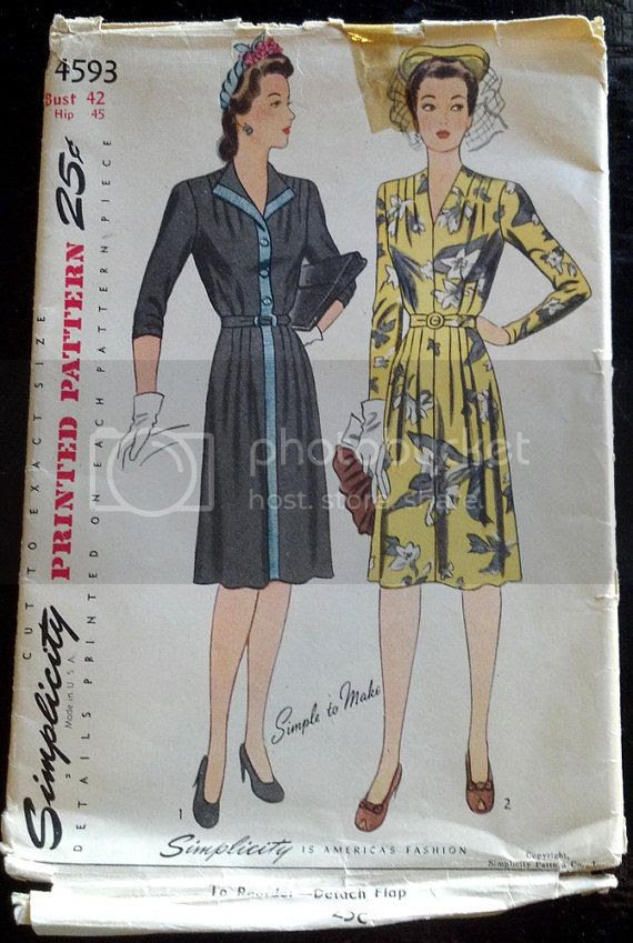 Charming Warm Weather Vintage Inspired Frocks Featuring: Chronically Vintage: Forty Fantastic 1940s Sewing Patterns