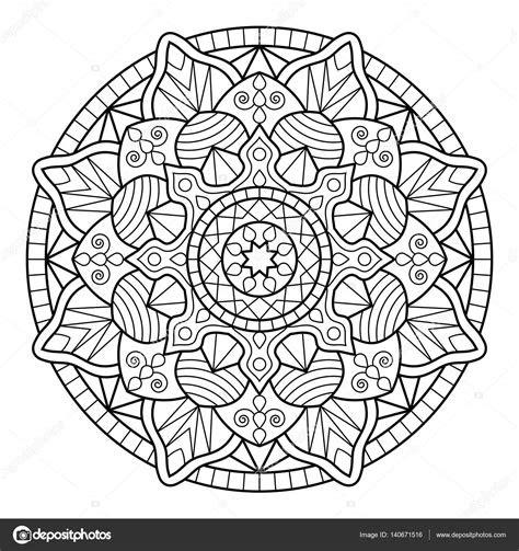 mandala boyama kitabi sayfalari stok vektoer  jelisua
