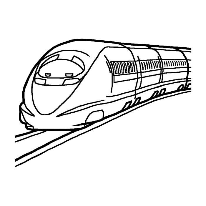 新幹線1白黒乗り物7乗り物建物無料イラスト素材