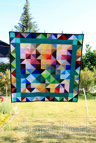'Shattered rainbow' quilt finished (2)