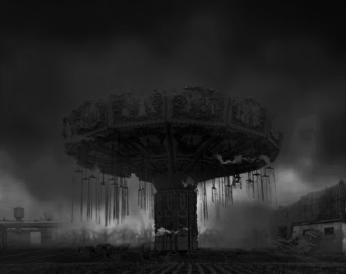 EXCERPT FROM THE DEAD GAME Linda found herself at a carnival. What is real or a nightmare? Chapter 40  That night Linda found herself caught in a nightmare that she couldn't escape from, even when she willed herself to open her eyes. She was afraid that it wasn't a nightmare, but a sinister game that had gone wrong. She didn't know how she'd gotten herself into it or how she was ever going to get out.  The nightmare had begun with Linda passing through the magical door at the diner—but it wasn't the diner anymore; it was a remote house that she'd never seen before. The house was dark and dreary like End House, but it wasn't End House.  She heard the sounds of waves crashing against the house. She couldn't believe that she was a prisoner in another house by the ocean. She didn't know where she was or what day it was. She didn't even remember how she'd gotten here. She just remembered following the little girl through the door: she'd been curious to see what was on the other side.   On the other side of the door, Linda found herself at the same carnival that the little girl from the village had visited, except this carnival was much louder and the people were leering at her, trying to force her into their tents. The fat man was waving his pudgy arms at her as he got closer and closer. A clown came at her with his balloons and howled at her. A man began throwing his knives in her direction, but luckily, kept missing. She ran away and ran behind the tents to the colorful booths of the carnival.  She chose the Fun House. She stepped into a room full of mirrors that made her multiple reflections appear distorted and unreal. She couldn't figure out why she'd run into the Fun House if in every horror movie the victims were always portrayed as being terrorized there. She hoped this wasn't another game of The Dead. She was determined to locate an exit, but found only mirrors and more mirrors; they made her dizzy. Her distorted reflections stared back at her—as if they were di