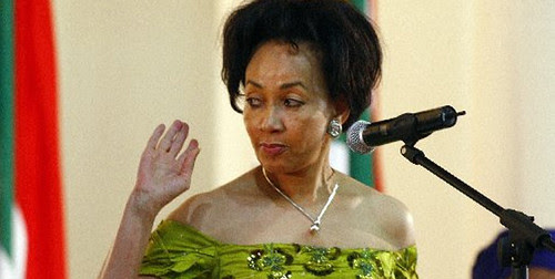 The then newly-appointed Minister of Defence for the Republic of South Africa Lindiwe Sisulu. The ruling African National Congress won the elections by a landslide in 2009 placing Jacob Zuma in office as president. by Pan-African News Wire File Photos