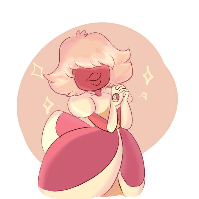 ✨ ✨ Here's a Padparadscha! She's so cute!