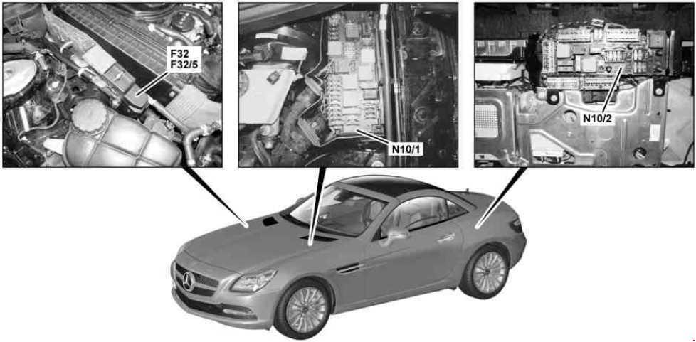 Mercedes Benz Slk R172 2010 Present Fuse Box Diagram Auto Genius