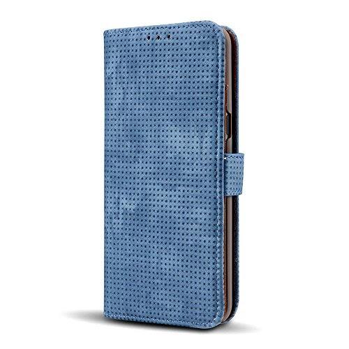 7427d38ddf Funda Galaxy Note 8 Dfly Premium Transpirable PU Cuero Dise ado Cierre Magn  tico Protectora Billetera Flip Case para Samsung Galaxy Note 8 Azul