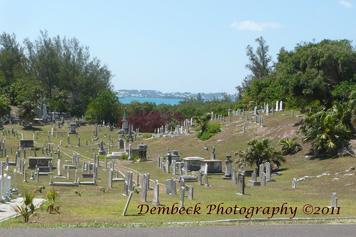 Bermuda cemetery with a view