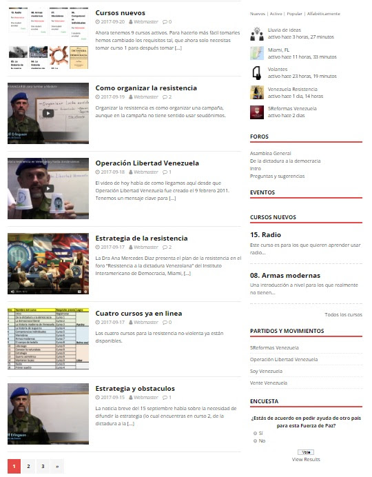 tutoriales paltaforma web fuerza venezuela