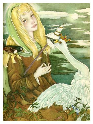 020-Los cisnes salvajes-The Fairy Tale Book-Adrienne Segur / Cesar Ojeda