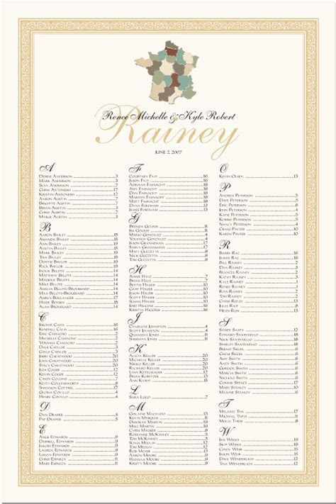 French Wedding Designs Wedding Place Cards Church Programs