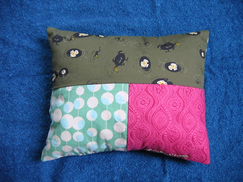back of frog pillow