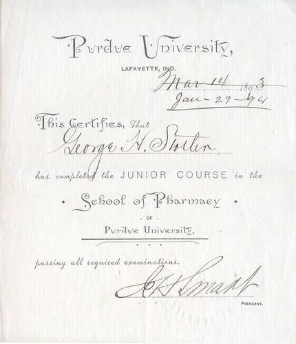 Purdue Pharmacy Junior Course