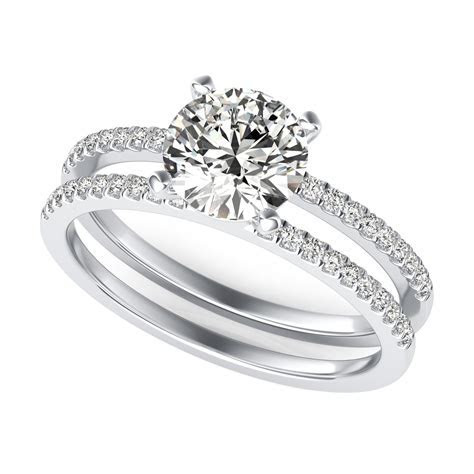 Split Band Diamond Engagement Ring   SKU: RD0059